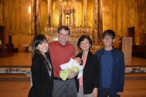 Family after baptism